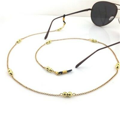 Gold Copper Eyeglass Reading Glasses Eyewear Spectacles Holder Cord Head Chain
