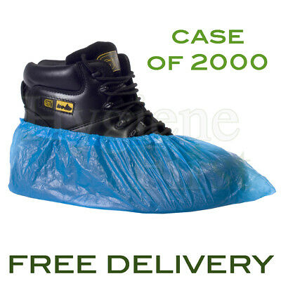 """Supertouch (16710) CPE Disposable 14"""" Overshoe Shoe Covers - Case Of 2000 - Blue"""