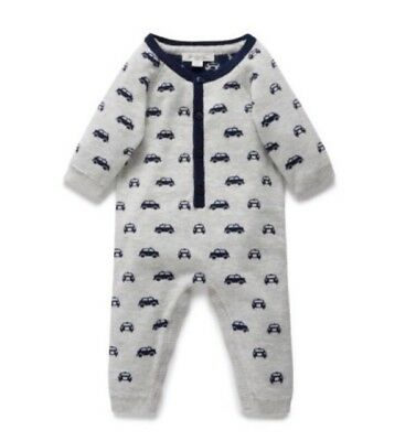 Pure Baby Toot Toot Knitted Growsuit Size 3-6 Months RRP$69.95