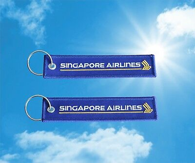 Singapore Airlines keychain keyring baggage luggage bag tag