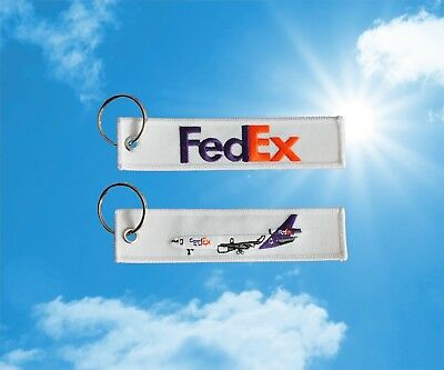 Fedex MD-11 keychain keyring baggage luggage bag tag