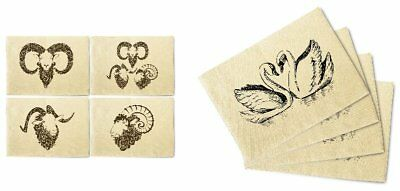 Birds and Flowers Patterns Printed Canvas Placemats 13x19 Inch Set of 4