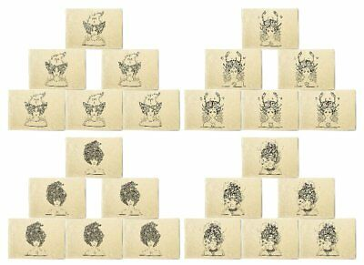 Zodiac Hand Drawn Printed Canvas Placemats 13x19 Inch Set of 6