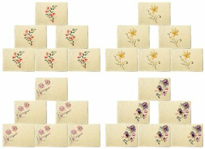 Flowers Design Printed Canvas Placemats 13x19 Inch Set of 6