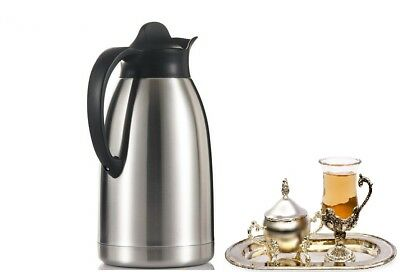 2Litre Stainless Steel 18/ Insulated Hot & Cold Flask Vacuum Tea Jug Therom 2L