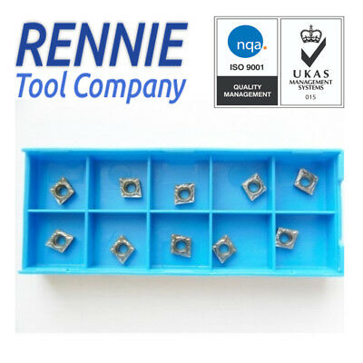 CCMT 060204 Indexable Carbide Inserts For Machining / Turning Steel. UK SELLER