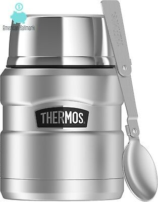 Stainless Food Jar Thermos King 16 Oz Folding Spoon Stainless Steel Lunch Box