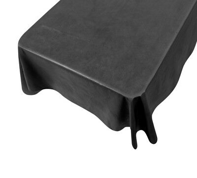 Black Vinyl Tablecloth with Flannel Backing ~ Size Choice