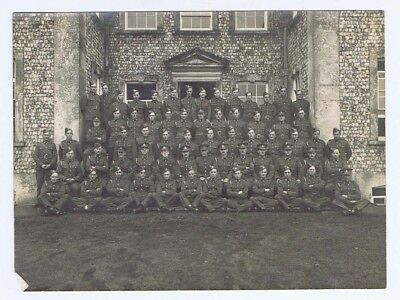 Group of British Army Soldiers Officers & Men Vintage Photograph c1930s