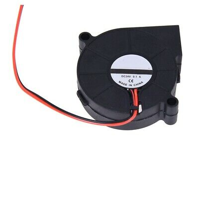 Blower Cooling Fan 2 Pin Wires 5015S 24V 50mm x15mm Black Brushless DC Cooler