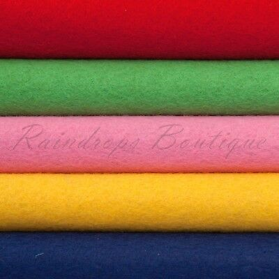 "Luxury Merino Wool Rayon mix felt 2mm thick sheet or 1/2 metre 36""wide En71 Pass"