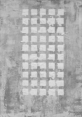 large grey squares feng shui print , metal, air, children and creativity