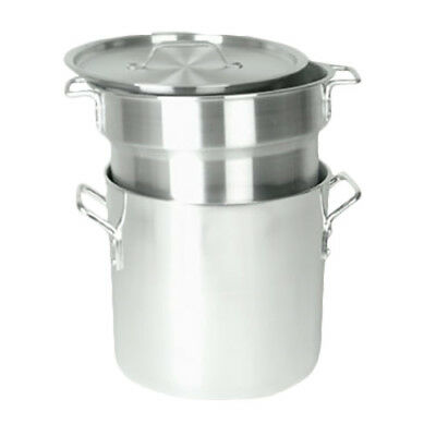 Thunder Group ALSKDB001 8 Qt Aluminum 3-Piece Double Boiler Set