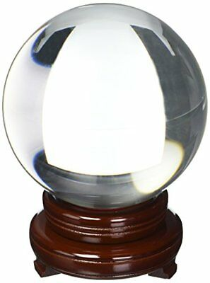 Amlong CrystalClear Crystal Ball 150mm (6 in.) Including Wooden Stand New