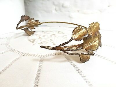 Handmade, Vintage Inspired Wedding Crown In Antique Gold