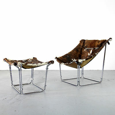 Lounge Chair w/ Ottoman by Kwok Hoi Chan for Steiner 1969