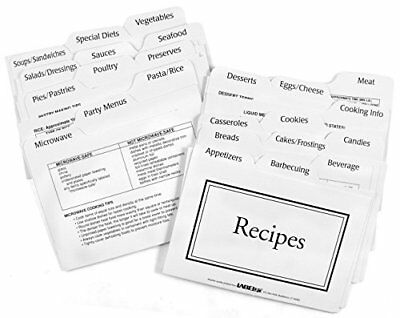Recipe Card Divider 3-by-5-Inch Set 2100 New