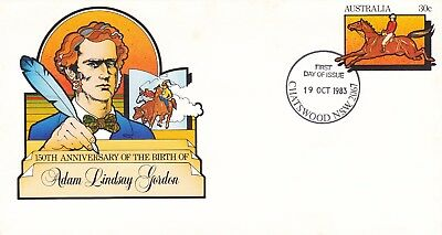 Pre-stamped envelope 068 Birth Centenary of Adam Lindsay Gordon. First day of is