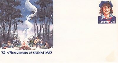 Pre-stamped envelope 093. 1985 75th Anniversary of Guiding in Australia. Mint.