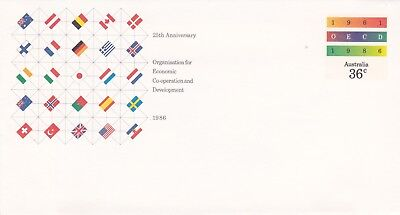 36c Mint Pre-stamped envelope. 25th Anniversary of OECD.