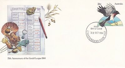 1984 Gould League Pre-stamped envelope.  First day of issue.