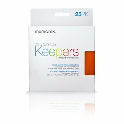 Memorex CD/DVD Keepers (25-Pack, Plastic Sleeves) 32021970 New