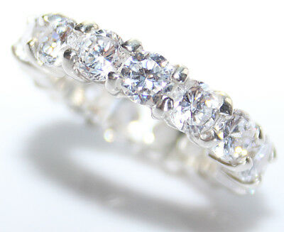 SIZE H & I Eternity AAA Cubic Zirconia Appealing STERLING SILVER Devine Ring