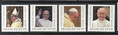 Vatican 2013 BEGINNING OF THE PONTIFICATE OF POPE FRANCIS MNH Set