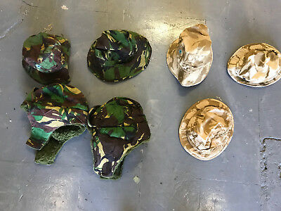 Job lot of 7 British army surplus camouflage hats