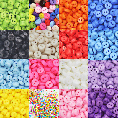 New Small Mini Tiny Micro Figures Doll Clothing Sew Buttons 6mm 9mm 50pcs