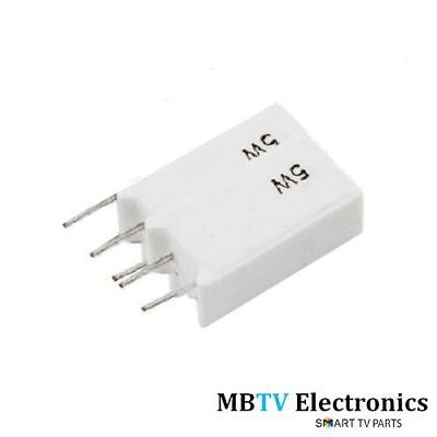 10Ω 5W Radial Wire-Wound Ceramic Resistors - 10 Ohm 5 Watt - 5W10Rj