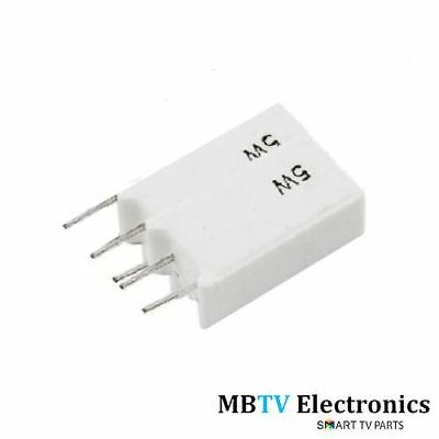 1Ω 5W Radial Wire-Wound Ceramic Resistors 1 Ohm 5 Watt - 5W1Rj