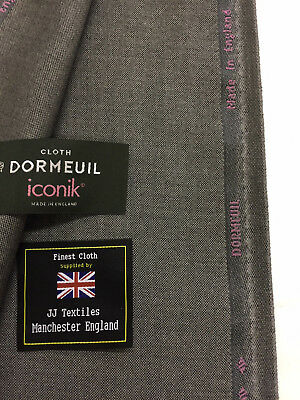 "DORMEUIL ""Iconik Nano"" Metallic Grey Super 120's 100% Worsted Wool Suit Fabric"