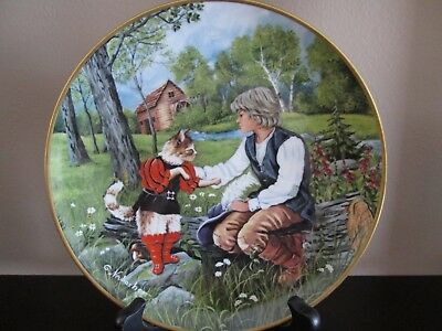 Kaiser W. Germany collectible plate Puss N' Boots Bradford Exchange signed
