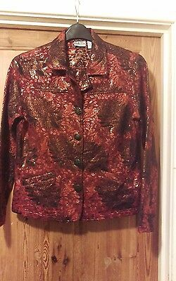 funky vintage shimmering ladies jacket by Chico's size 1