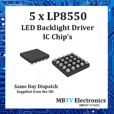 5 x LP8550 HIGH EFFICENCY Backlight LED Driver IC CHIP for Macbook & Notebook's