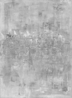 Jerusalem large grey gray abstract acrylic mix media , from original print ,gold