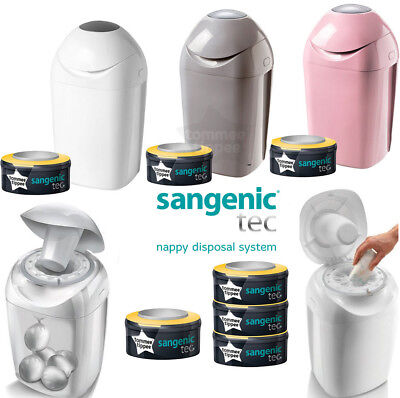 Tommee Tippee Sangenic Tec Nappy Disposal Tub Nappy Bins and Refill Cassettes