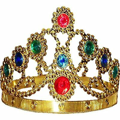 Gold Adjustable King and Queen Crown 51360 New
