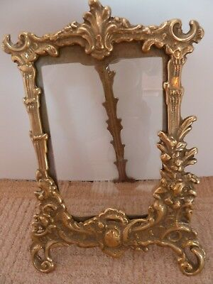 "Vintage Brass Picture Frame Antique Effect Scroll 6"" x 4"" Photo Frame *Rare*"