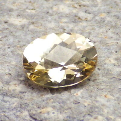 GOLDEN BERYL-BRAZIL 1.47Ct FLAWLESS-PRECISION FACETING-FOR JEWELRY