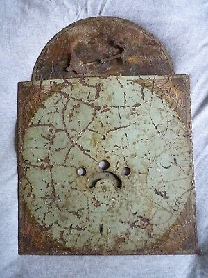 Antique grandfather clock face / painted dial – seesaw automation – Rare - A/F