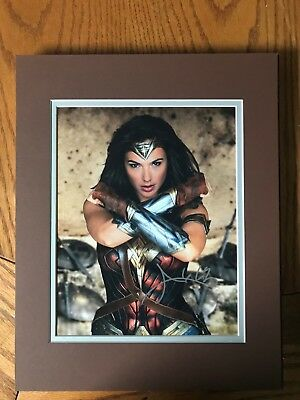 Gal Gadot, Wonder Woman, Gorgeous, sexy,  autographed 8x10 photo, matted,  COA!
