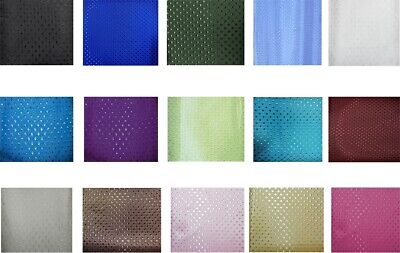 Shower Curtain Bathroom Water Resistent Assorted Colours & Designs 180x180cm