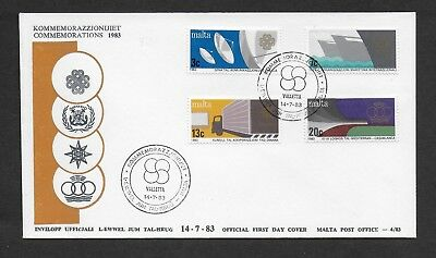Malta First Day Cover, 1983  Anniversaries And Events Stamp Set Used