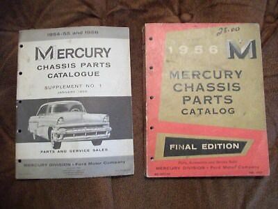 1956 MERCURY CHASSIS PARTS MASTER CATALOG and 1954-55-56 SUPPLEMENT-NICE