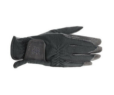 Horze Shona Touch Screen Breathable Stretchy Grip Dark Slate Gray Riding Gloves
