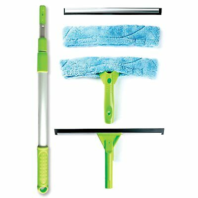 Professional Telescopic Window Cleaning Kit with Super Squeegee, All - In - One