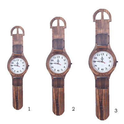 Unique Large Watch Wooden Wood Clock Decorative Wall Clock for Room Decor
