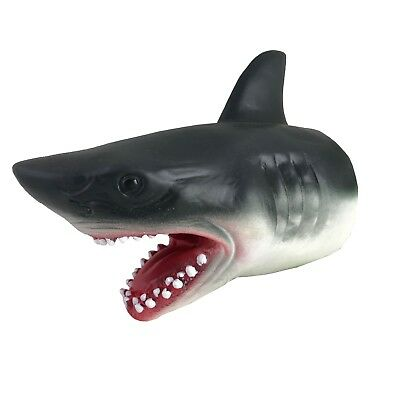 """7"""" (18cm) Shark Hand Puppet Durable Rubber Sea Life Animal Sea Life Play Toy"""